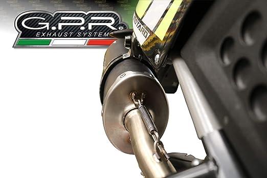 MIT R/ÜCKEN CARBON GPR Auspuff kompatibel FANTIC MOTOR 125 M PERFORMANCE 2019//20 Auspuff OMOLOG
