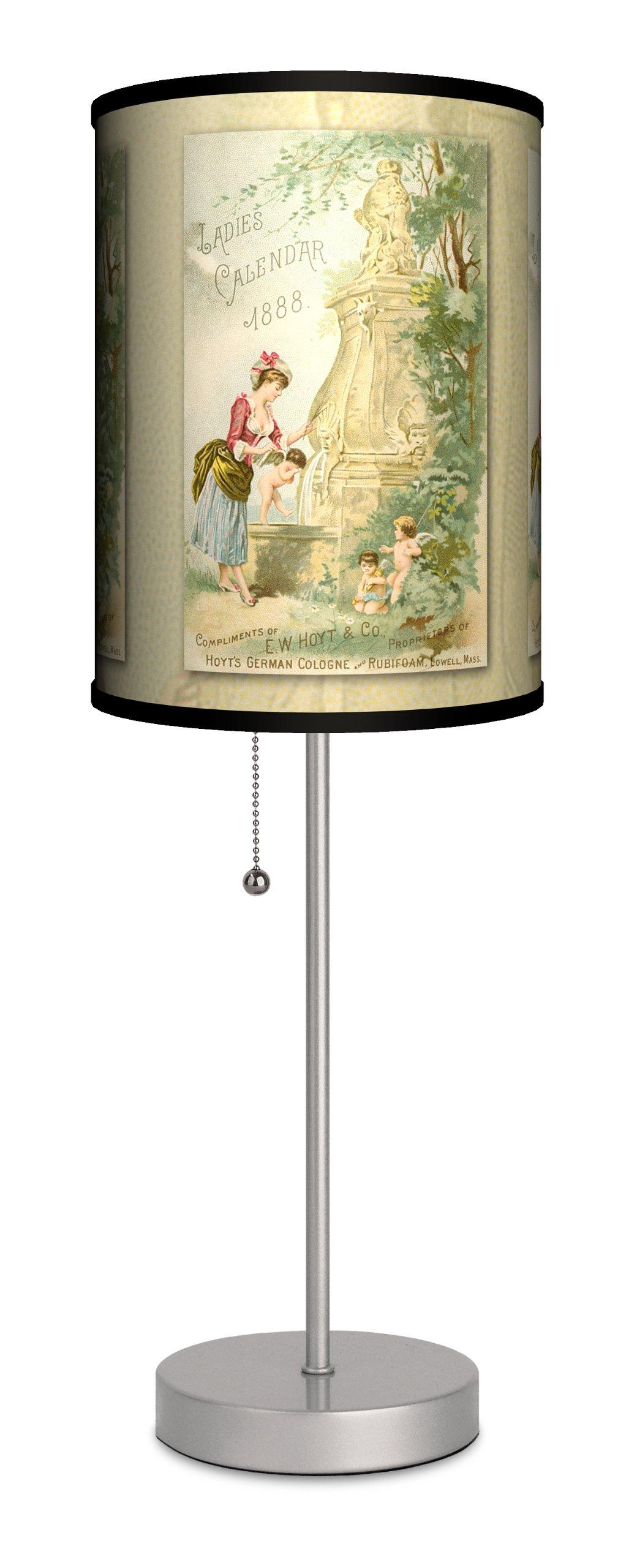 Vintage Labels - Ladies Calendar 1 Sport Silver Lamp