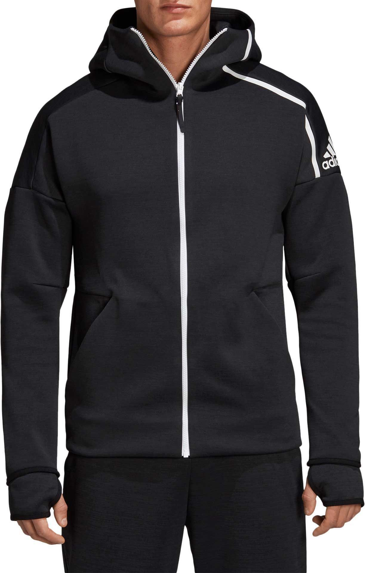 adidas Men's ZNE Hoodie Zne Heather/Black Small