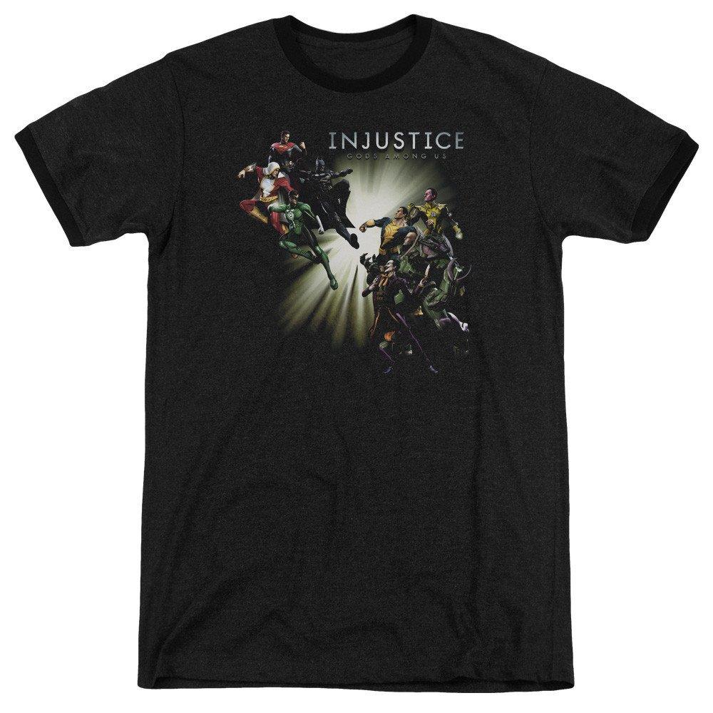 Sons of Gotham Injustice Gods Among Us Shirt M Good Vs Evils Adult Ringer T