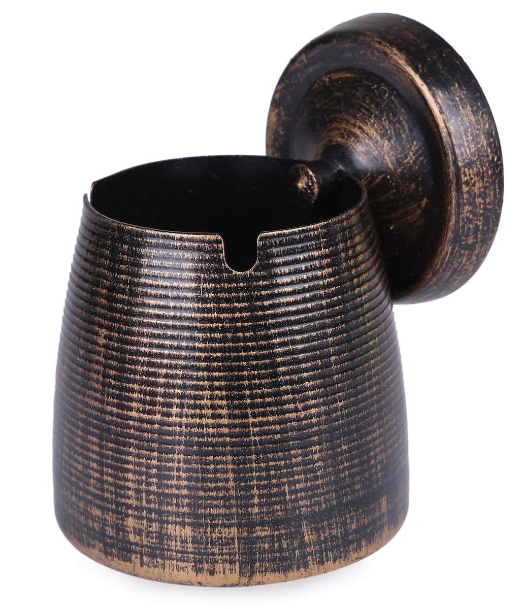LOTUS LIFE Ashtray with lid stainless steel outdoor indoor Copper Brown (Medium) GNO JAPAN ldt