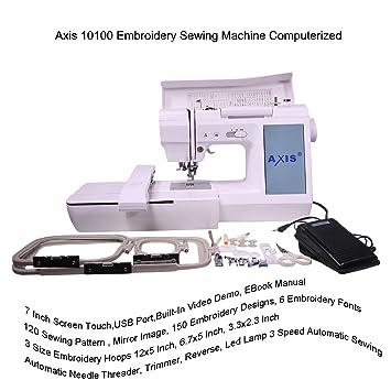 amazon com axis 10100 embroidery sewing machine computerized 7 inch rh amazon com