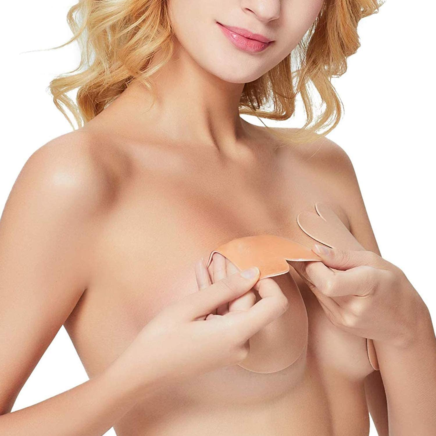 Invisible Soft Nipple Cover Bra Pad Skin Adhesive Floral Lips Heart Apple Shapes