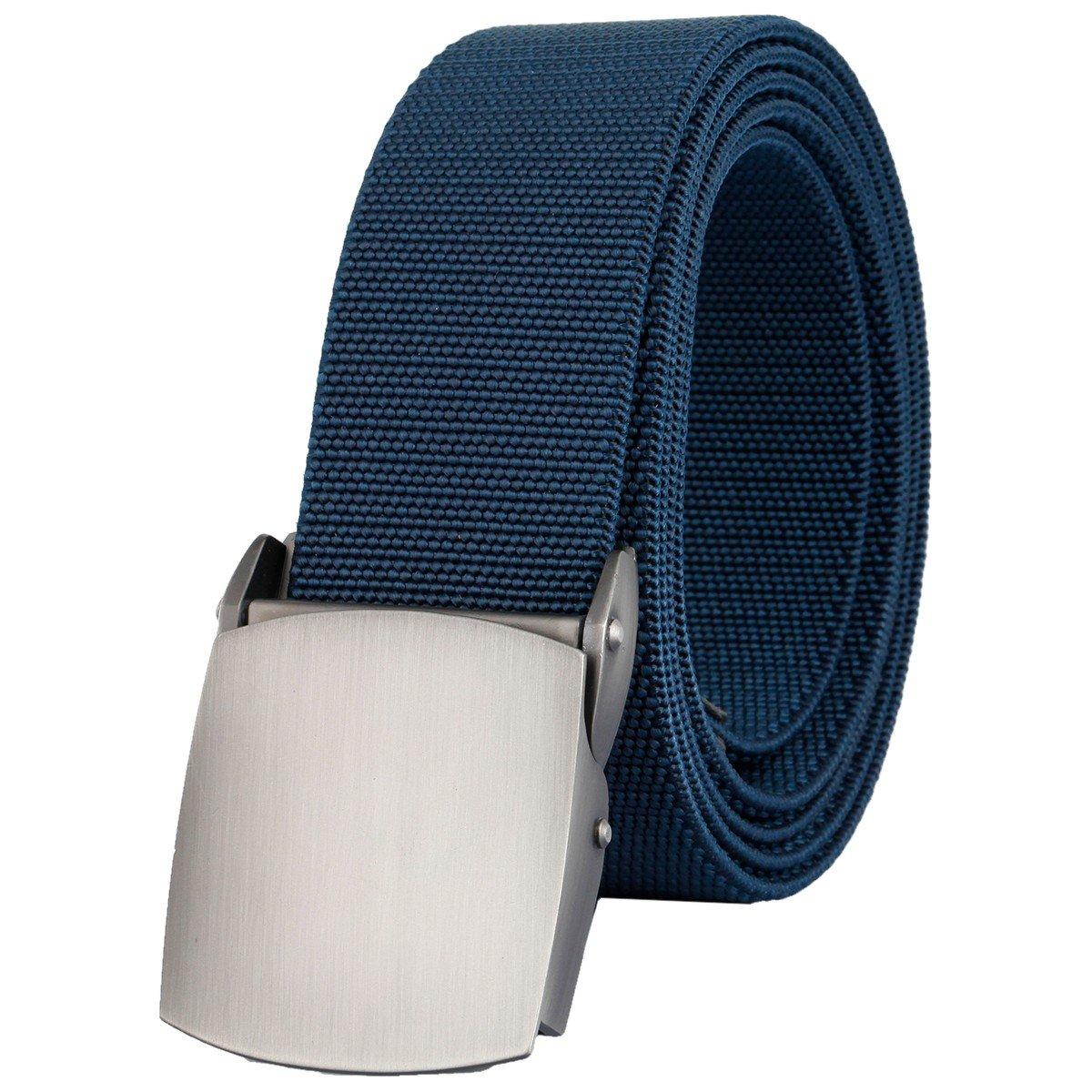 Sportmusies Men's Webbing Elastic Belt, Military Style Stretch Tactical Duty Belt