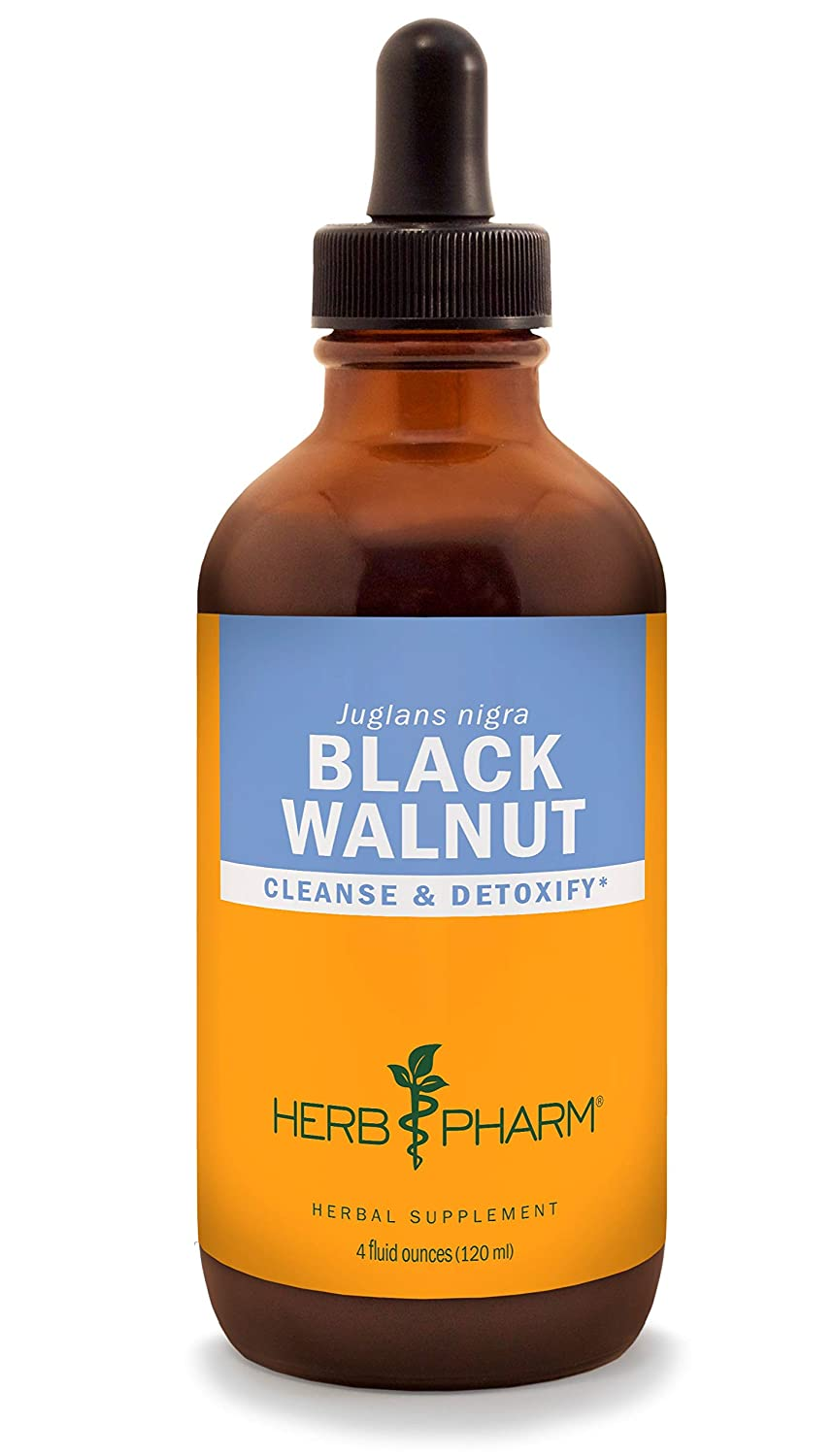 Herb Pharm Black Walnut Liquid Extract for Cleansing and Detoxifying – 4 Ounce