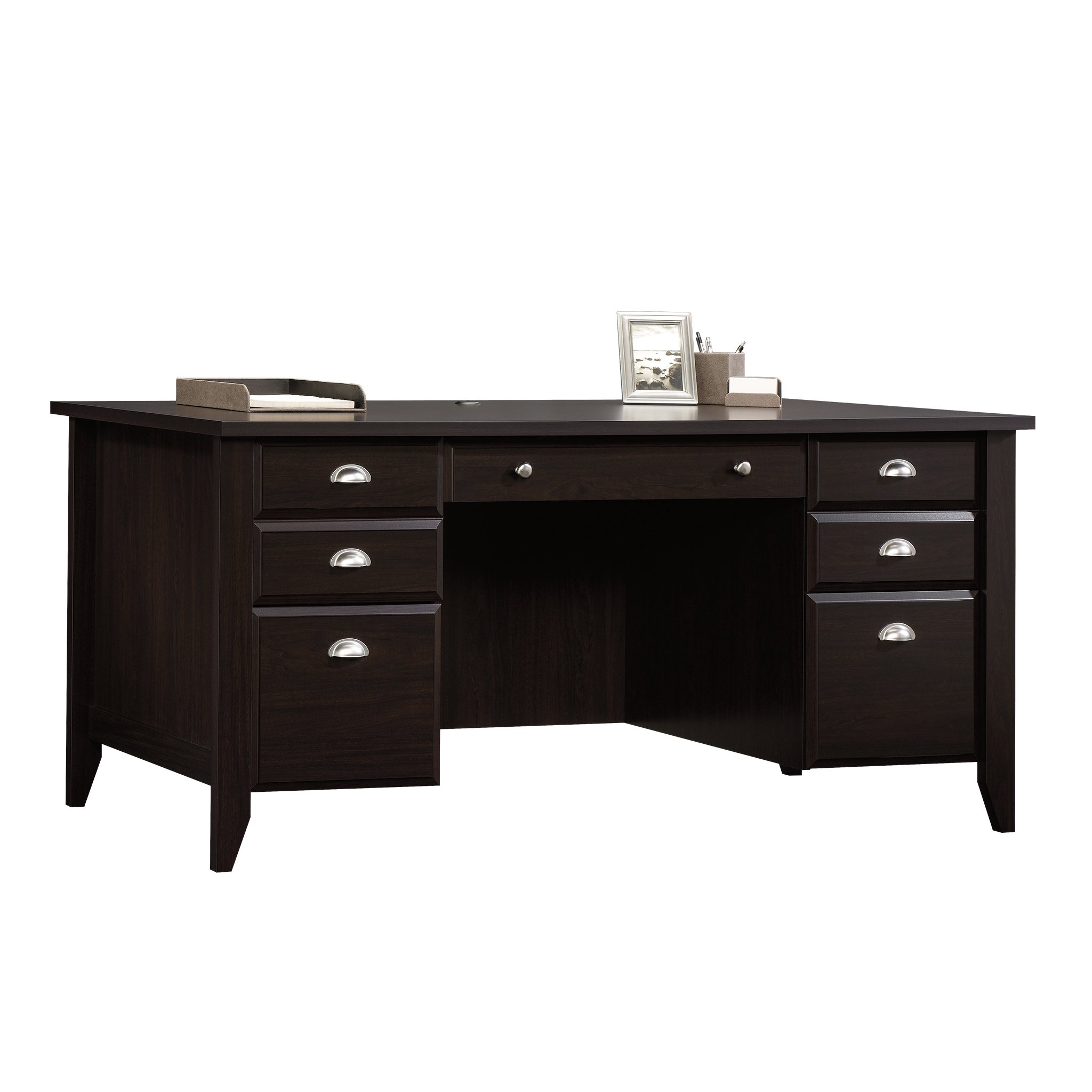 Sauder shoal creek executive desk in jamocha wood - Sauder Shoal Creek Executive Desk Jamocha Wood