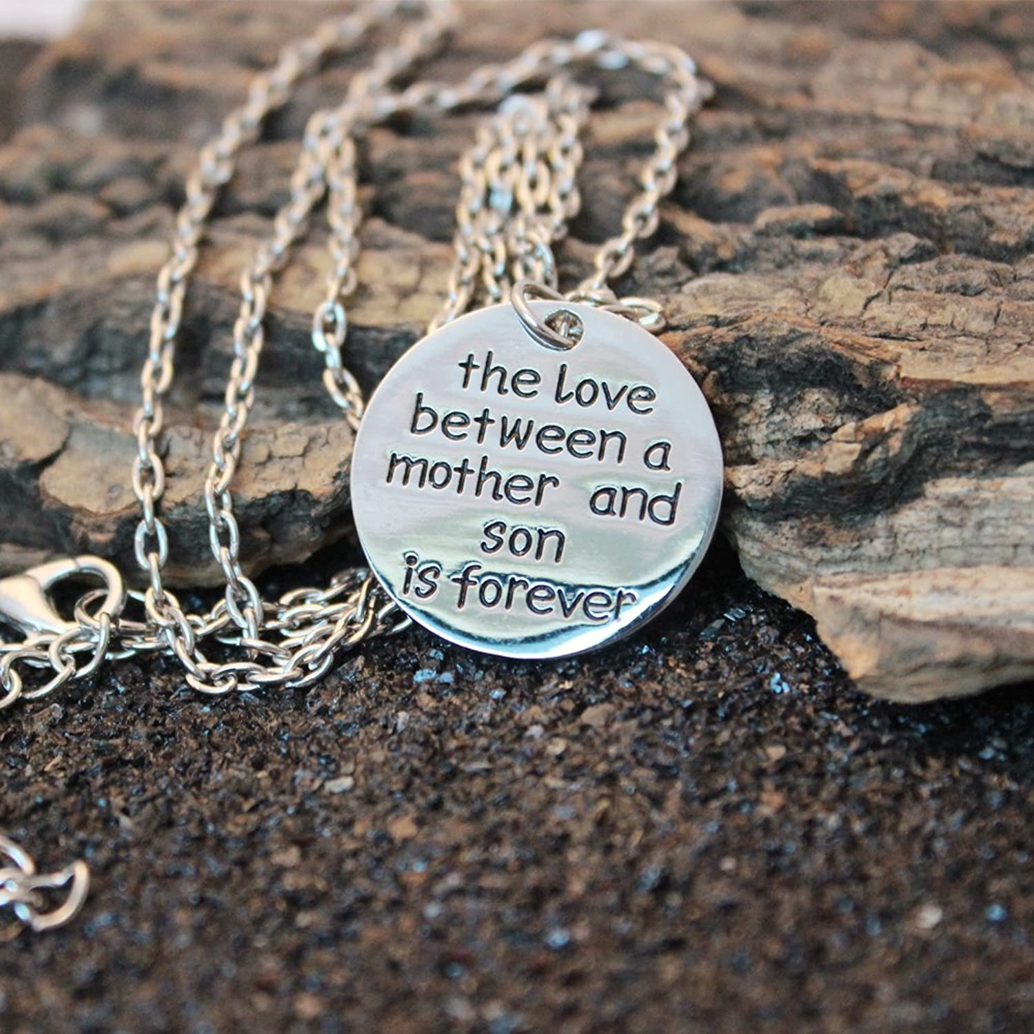 Amazon.com: Mother Son Necklace Mother\'s Day Gift for Mom The love ...