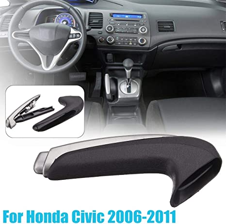 AKDSteel Handle Cover Emergency Car Interior Parking Hand Brake Handle Lever for Hon-da Civic 2006-2011 products