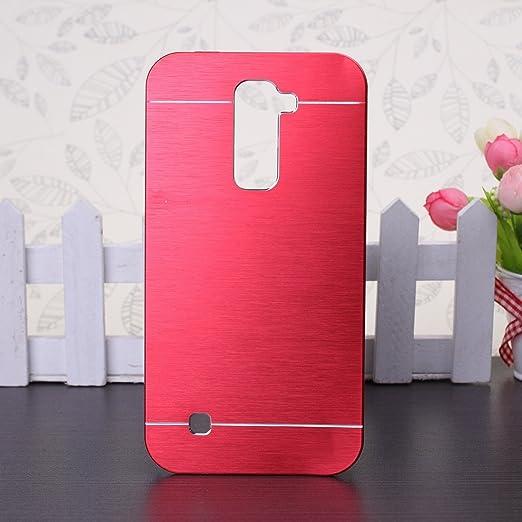 37 opinioni per EKINHUI LG K10 Case, Di lusso spazzolato ibrida della copertura del metallo