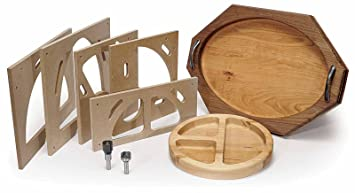 MLCS 9179 Bowl And Tray Template Kit with Router Bit - Bevel Bowl ...