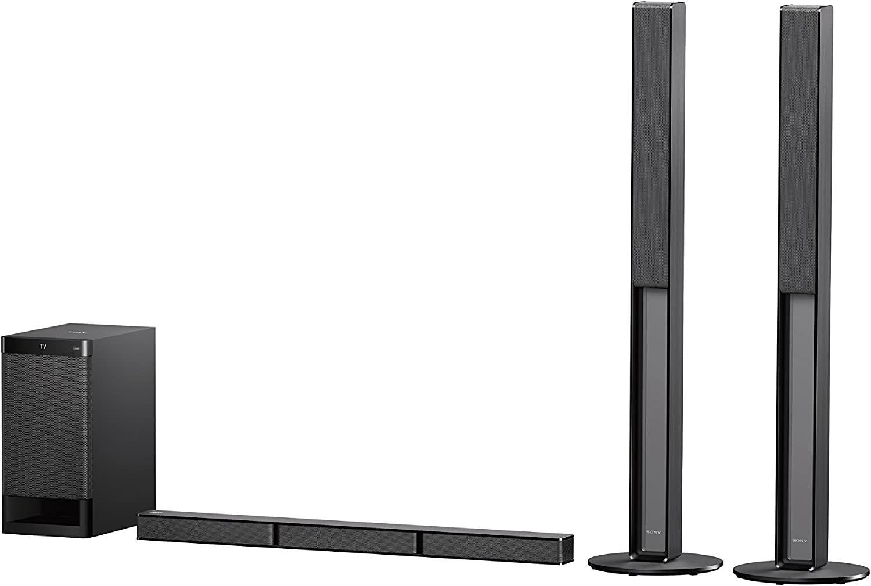Sony HT RT4 600W 5.1 CH Soundbar System with Tall Rear Speakers Black