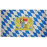 trends4cents BAYERN MIT LÖWENWAPPEN Bavaria Löwe Fahne, 250 x 150 cm