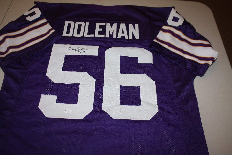 e37e57056 Minnesota Vikings Chris Doleman  56 Autographed Signed Home Custom Jersey  HOF 2012 Memorabilia - JSA Authentic at Amazon s Sports Collectibles Store