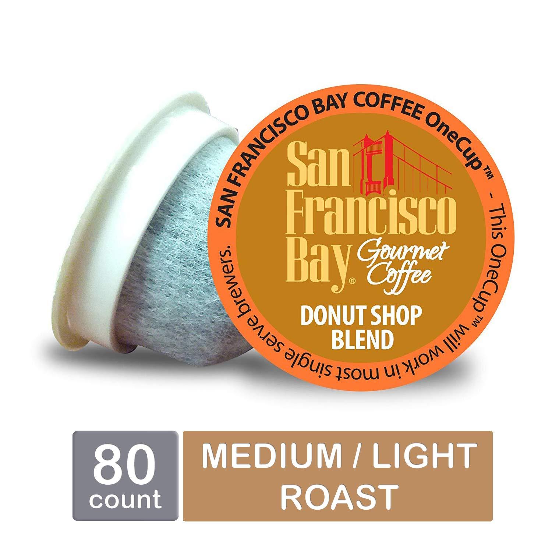 San Francisco Bay OneCup, Donut Shop, Single Serve Coffee K-Cup Pods (80 Count) Keurig Compatible