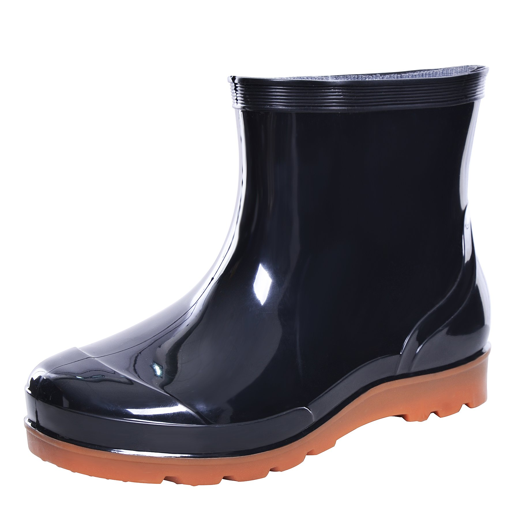 YELLOW AND TREE Men Rain Boots Waterproof Rubber Washing Work Boots