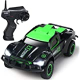 SGILE 2.4Ghz High Speed RC Drifting Car Toy for Boy Kids Adults, Rechagable Fast Off-road LED Vehicle Racer for Birthday Gift Present, Green
