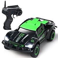 SGILE 2,4 Ghz Ferngesteuerter Geländewagen mit Lichtern, Off-Road ferngesteuerter Rennfahrer, Spielzeugauto Rennwagen Hochgeschwindigkeitsspielzeugauto für Kinder Kindergeschenk