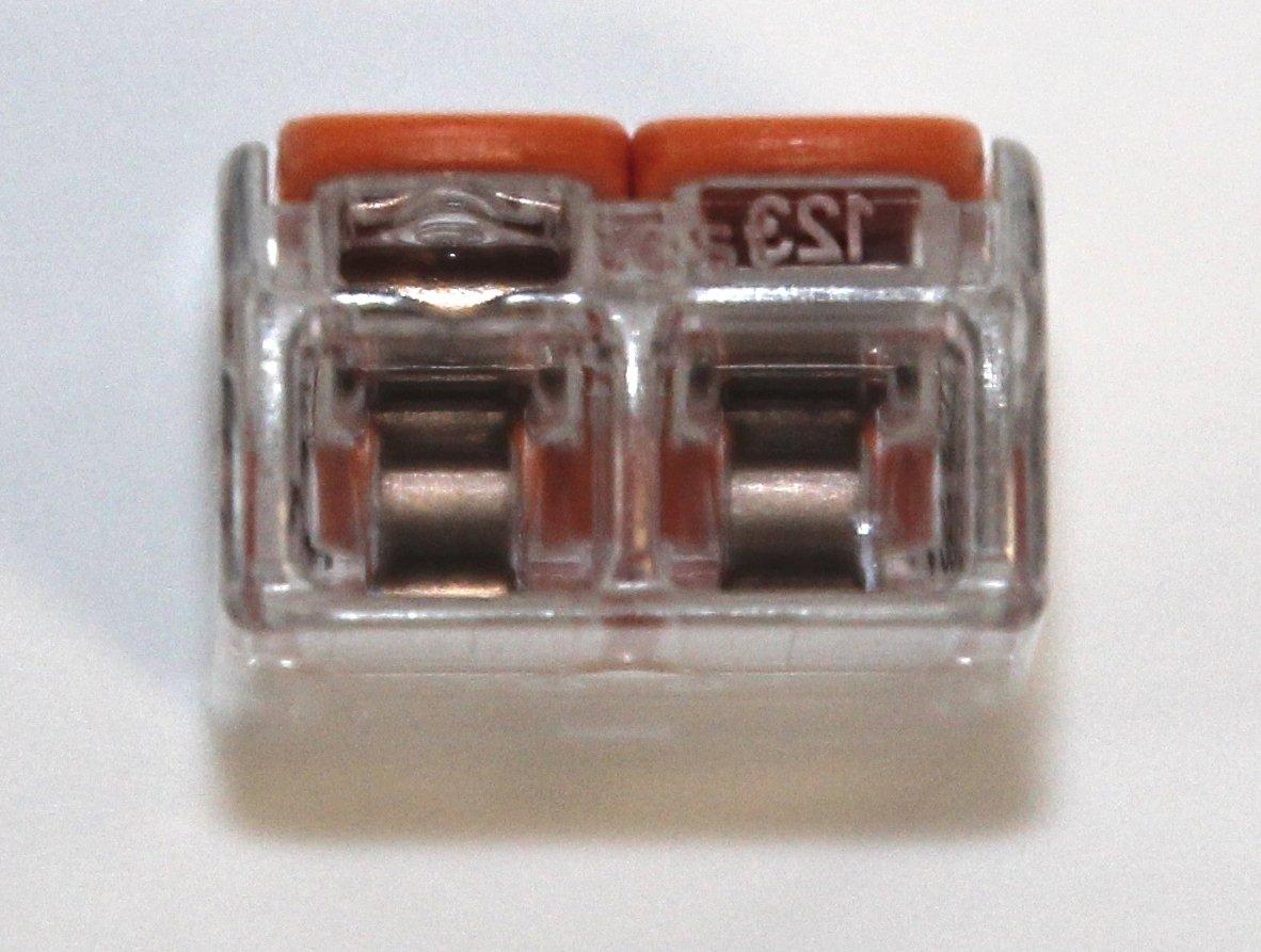 Wago Terminale Connettore Scatola assortimento misto 50 PEZZI tipi 222-412 413 415