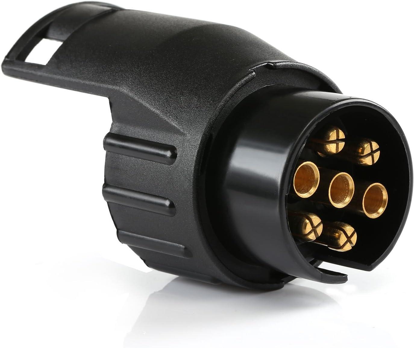 Truck Trailer Connector 5559011197 Electrical Adapter Converter LIHAO 1PCS 13-Pin to 7-Pin Round European Standard Socket Converter