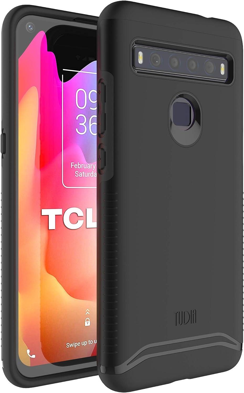 Delgada Funda Protectora de Doble Capa para teléfono TCL 10L