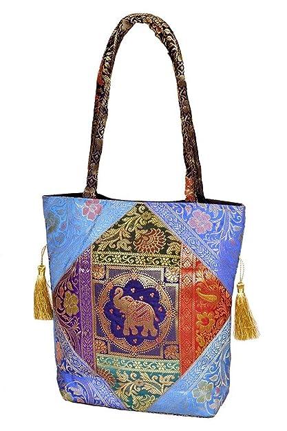 b39e4e1c5ec9 Ethnic Traditional Shoulder Bag Brocade Silk Handbag for Ladies ...