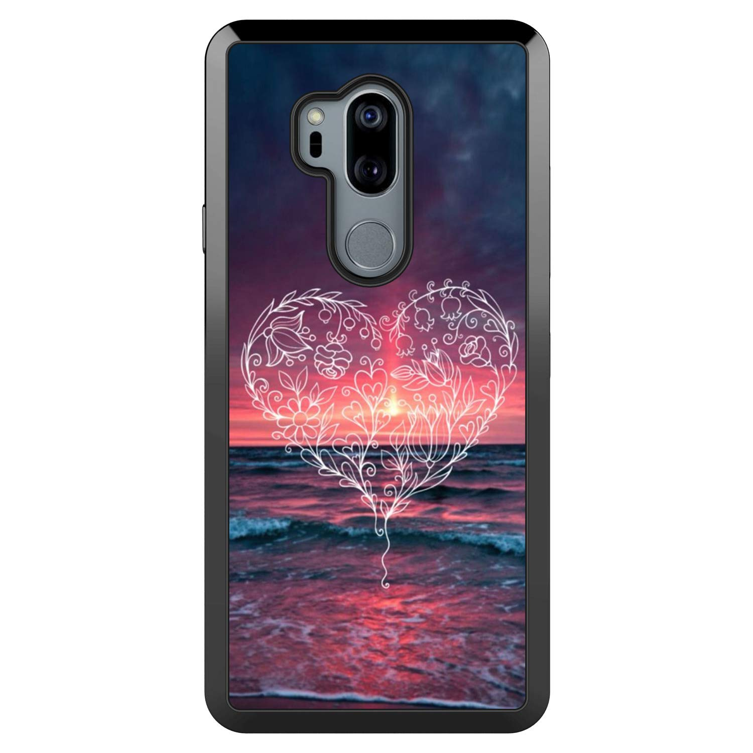 Heart Pattern Totem LG G7 ThinQ Case Creative Personality Case Phone Unique for LG G7 ThinQ