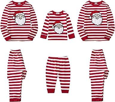 Christmas Family Matching Pajamas Set for Dad Mom Kid Baywell I Love Santa