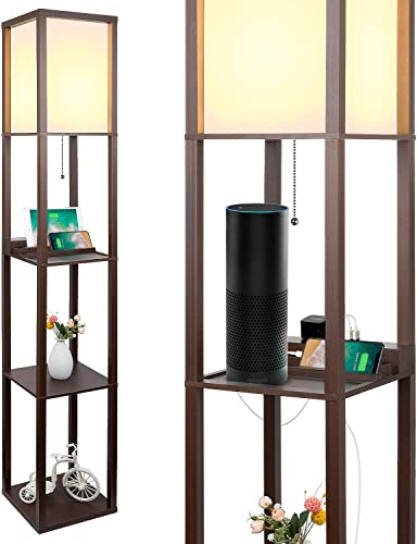 3-in-1 Shelf Floor Lamp