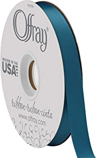 product image for Double Face Satin Ribbon, 50 Yards, Deep Teal