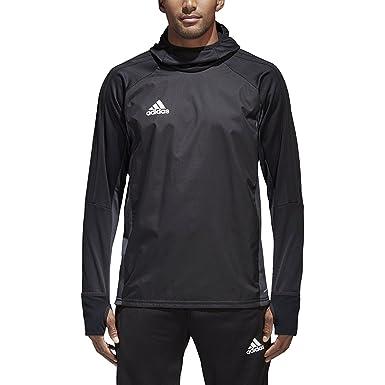 0ad852aec472 Adidas Tiro 17 Mens Soccer Warm Top S Black-Dark Grey-White