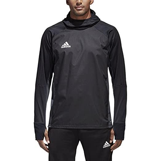 new product 4e4cc 15d33 Adidas Tiro 17 Mens Soccer Warm Top S Black-Dark Grey-White