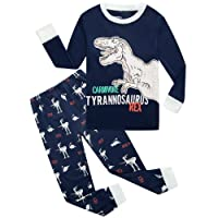 Dolphin&Fish Boys Pajamas Elephant Little Kids Pjs Sets 100% Cotton Toddler Sleepwears