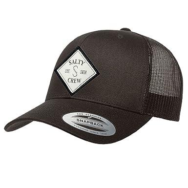 edc19d45 Salty Crew Men's Tippet Retro Trucker Hat, Black, One Size at Amazon Men's  Clothing store: