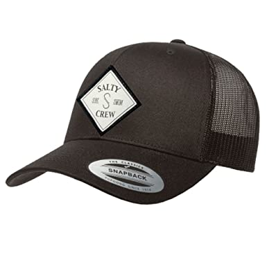 5ccaeaa6ec8 ... czech salty crew mens tippet retro trucker hat black one size at amazon  mens clothing store
