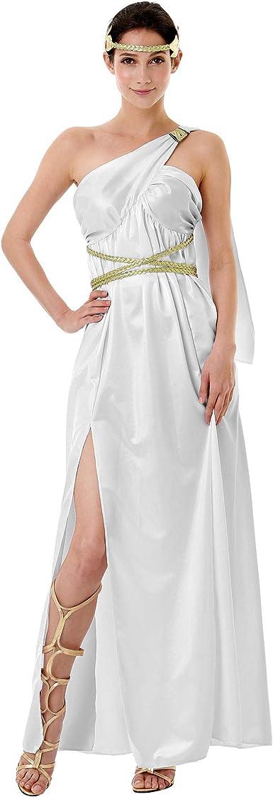 Disfraz de Diosa Griega de Halloween para Mujer – Vestido Blanco ...