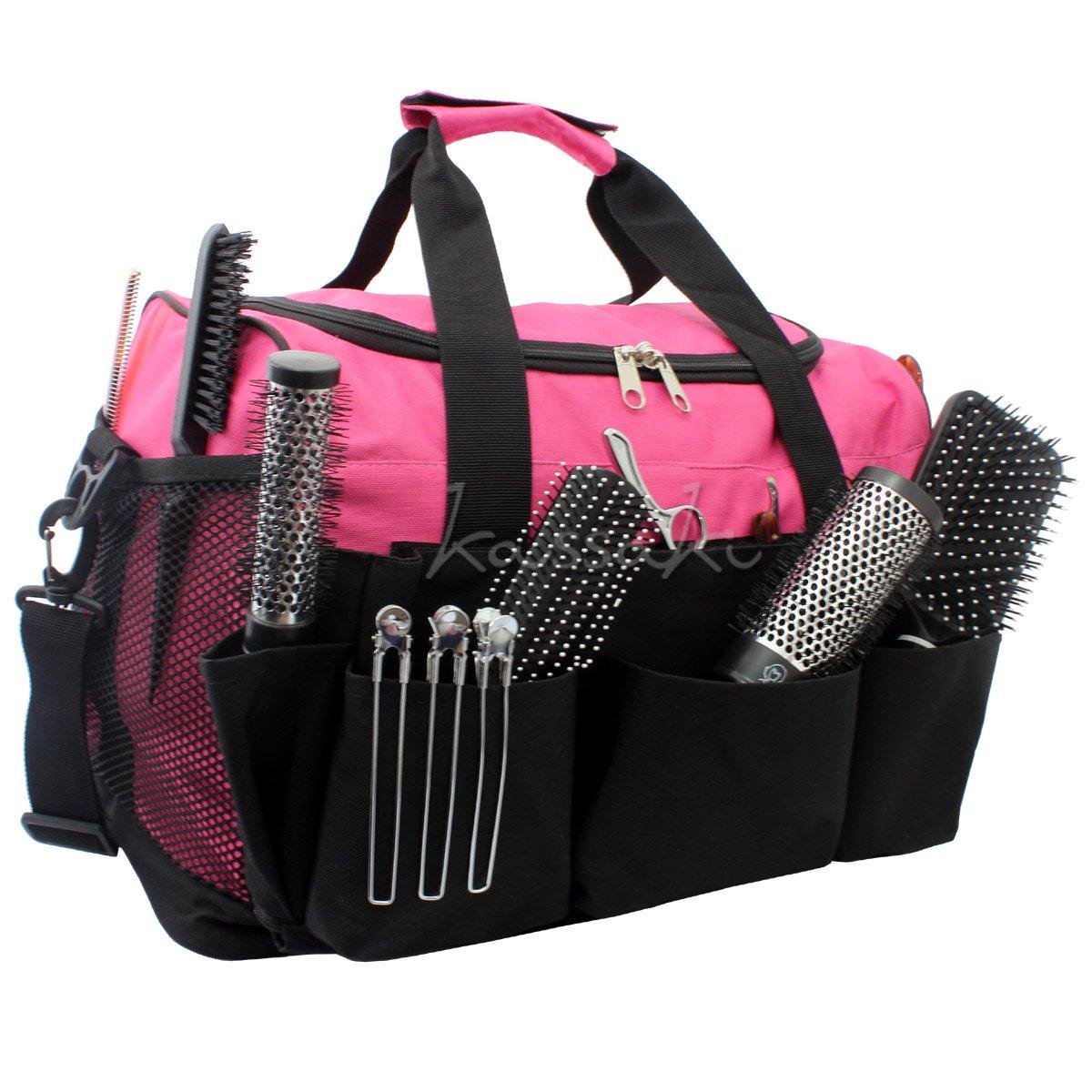Hairdressing Designer Session Bag Large Mobile Hairdresser Barber Kit Holder in Pink Kassaki