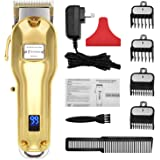 BESTBOMG Professional Cordless Haircut Kit Hair Clippers for Men Rechargeable Hair Clippers Set LED Display with…