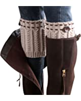Cleanrance! WILLTOO 2015 Women Leg Warmer Knit Boot Socks Topper Cuff
