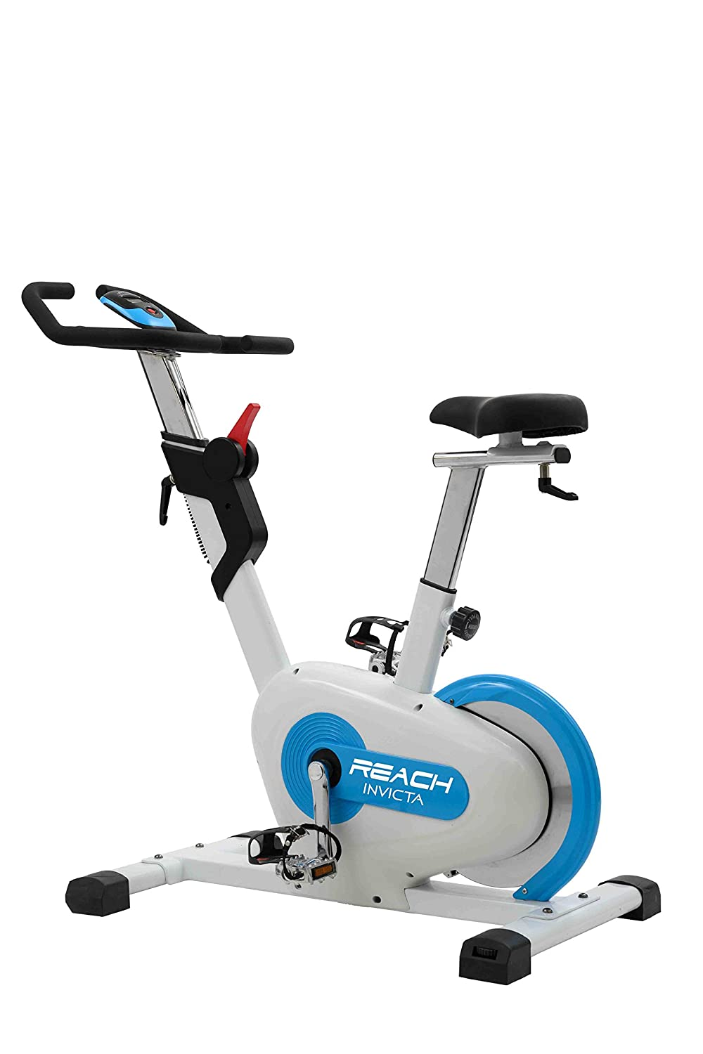 Reach Invicta Upright Spin Bike with Rear Drive Flywheel Magnetic Exercise Cycle for Home Gym