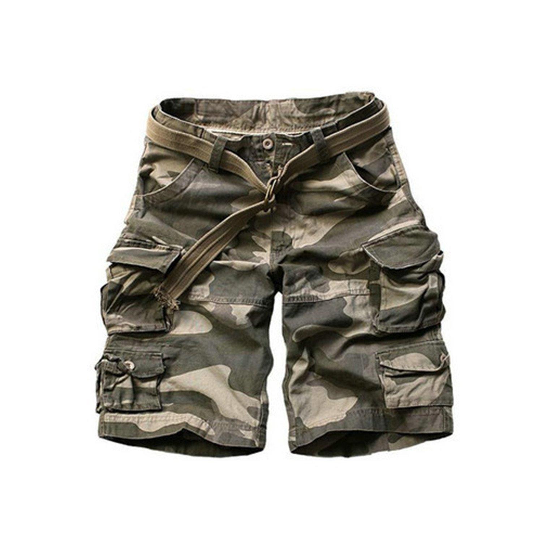 Mainstream Men Cargo Shorts Cotton Camouflage Shorts,2XBig,LightCamouflage