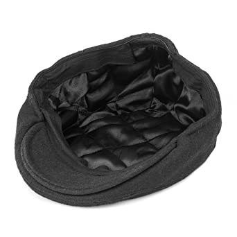 0c8a0e78190 Primitive Wing Men s Winter Warm Wool Newsboy Cap Black at Amazon Men s  Clothing store