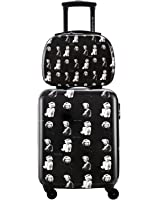 DAVIDJONES Carry on 2 Piece Luggage Set for Woman Hard Side Spinner Suitcase Set