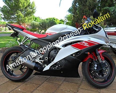 Amazon.com: Fairings White Red For Yamaha YZF-R6 08 09 10 11 ...