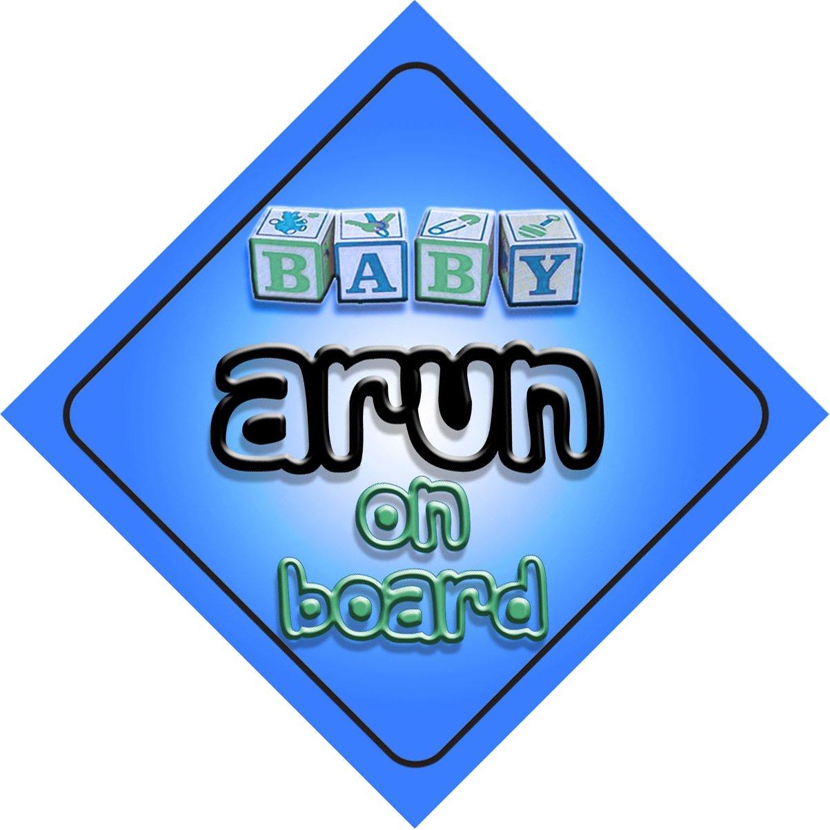 Bébé Garçon Arun on Board fantaisie Panneau de voiture Cadeau/cadeau pour nouveau/enfant nouveau-né