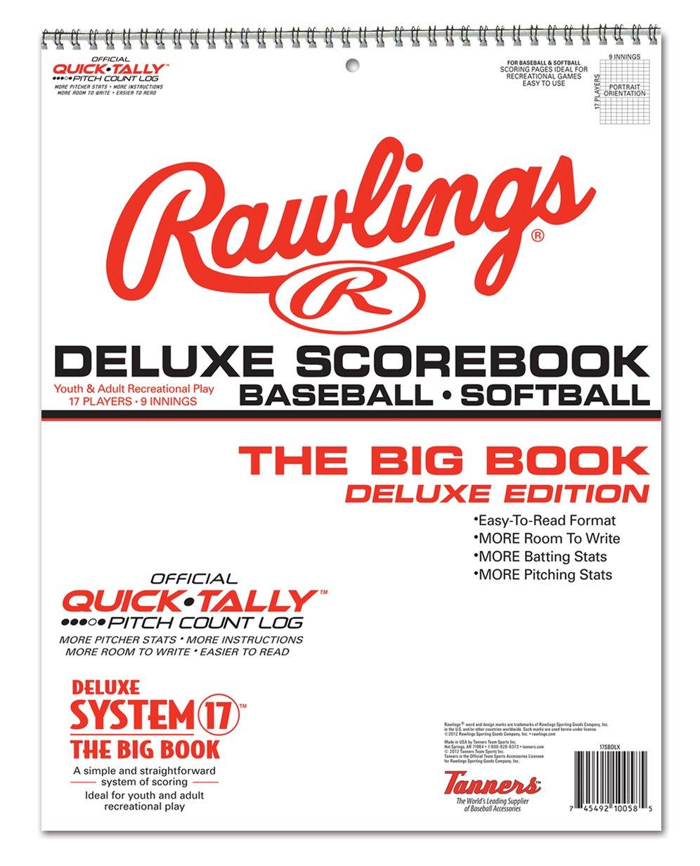 Rawlings Deluxe System-17 Baseball /& Softball Scorebook