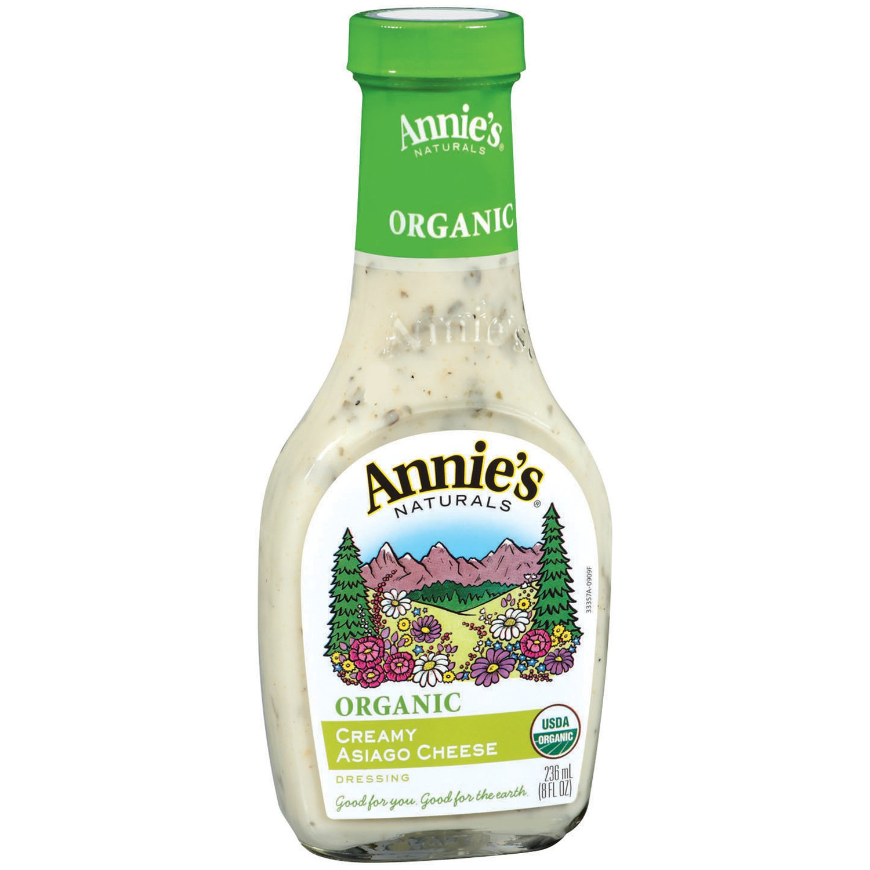 Annie's Organic Gluten Free Creamy Asiago Cheese Dressing 8 fl oz Bottle
