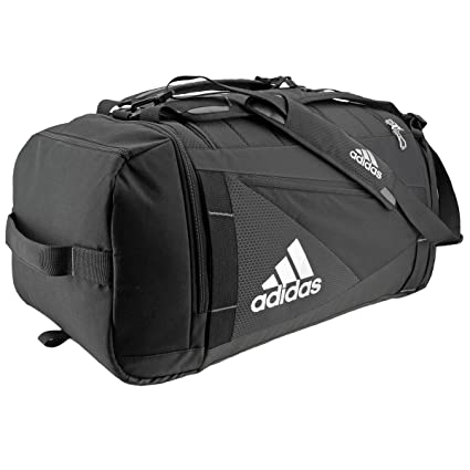 779e3d5bc1f adidas Unisex Utility Lacrosse Backpack Duffel, Black Silver, One Size