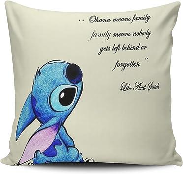 Amazon.com: keibike funda de almohada de Lilo y Stitch Ohana ...