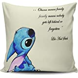 KEIBIKE Pillow Case Lilo and Stitch Ohana Means Family Personalized Pillowcases Hot Decorative Throw Pillow Covers Cases…