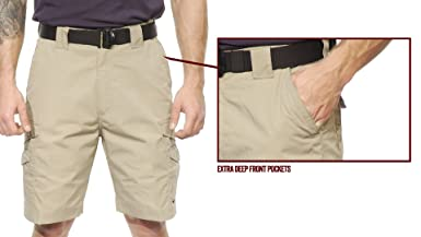 0df7f11b68 Tru-Spec Men's 24-7 Polyester Cotton Rip Stop 9-Inch Shorts: Amazon.co.uk:  Clothing